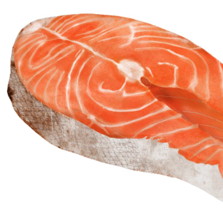 Salmon steak, Waitrose